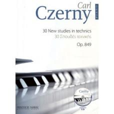Czerny Carl - 30 New Studies in Technics Op.849 + CD