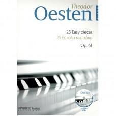 Oesten-25 Εύκολα κομμάτια για πιάνο Op.61 + CD