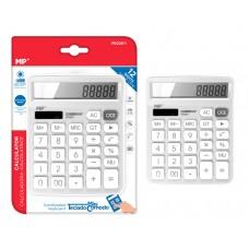 MP αριθμομηχανή PE028, ηλιακό & μπαταρίες, 12 ψηφία, λευκή