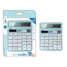 MP αριθμομηχανή PE028, ηλιακό & μπαταρίες, 12 ψηφία, γαλάζια