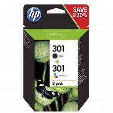 HP 301 Black/Tri-color 2-pack (N9J72AE)
