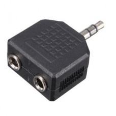 POWERTECH Αντάπτορας από stereo 3.5mm (M) σε 2x 3.5mm (F), nickel
