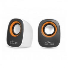 Ηχεία Stereo Media-Tech MT3137W IBO 3.5mm με Τροφοδοσία USB 6W Λευκά